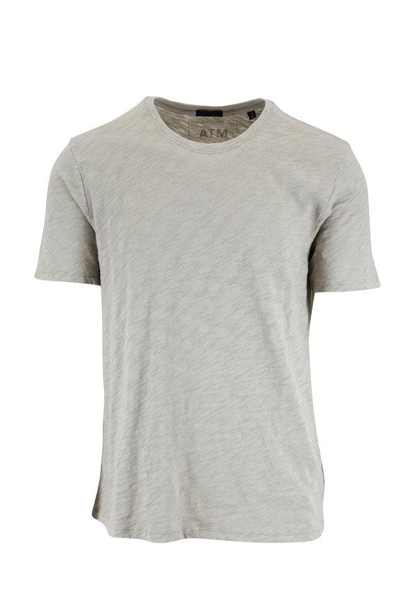 A T M Pale Moss Slub Cotton Jersey T-Shirt