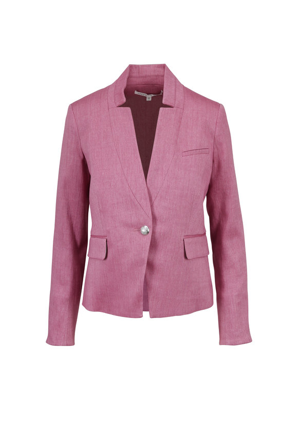 Veronica Beard Orchid Stretch Linen Dickey Jacket