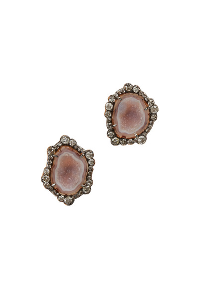 Kimberly McDonald - Rose Gold Light Geode Diamond Earrings