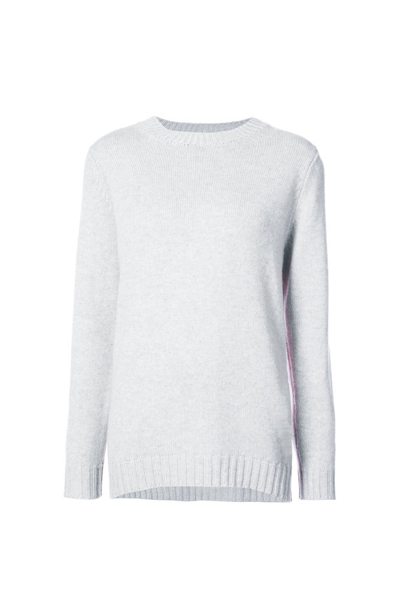 Chinti & Parker Light Grey Cashmere Side Zip Sweater