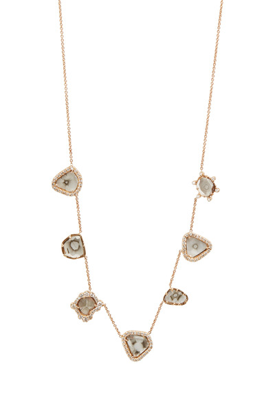 Kimberly McDonald - Rose Gold Diamond Slice Charm Necklace