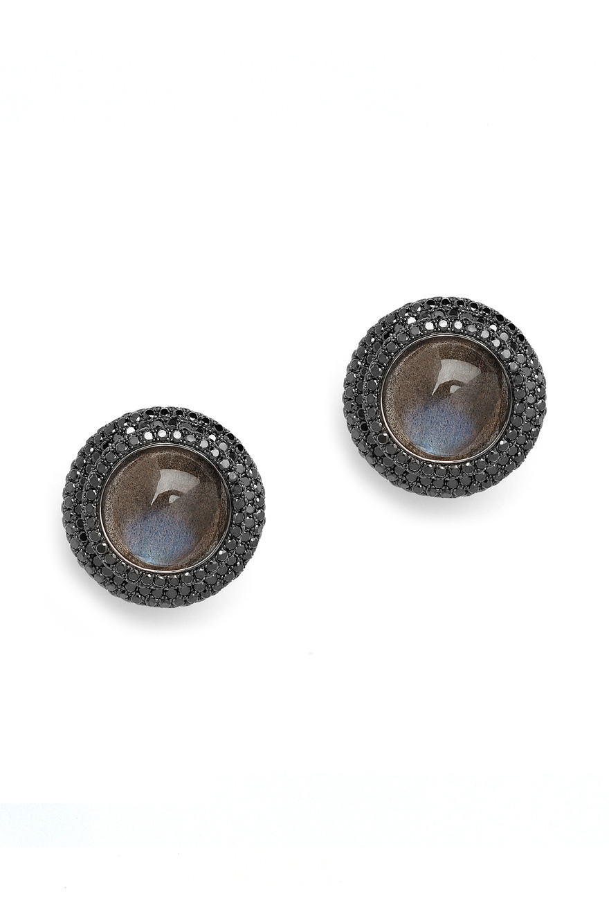 Labradorite Black Diamond Earrings