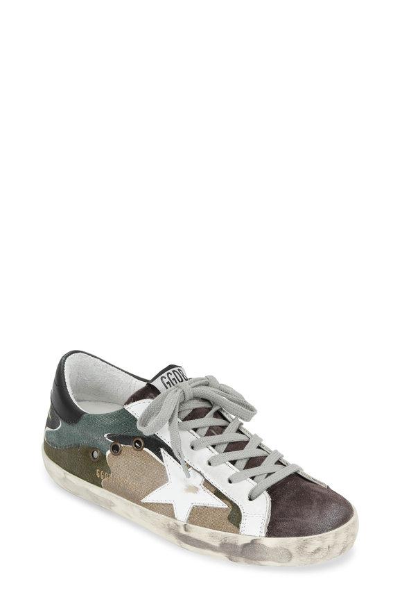 Golden Goose Women's Camo Canvas Low Top Sneaker