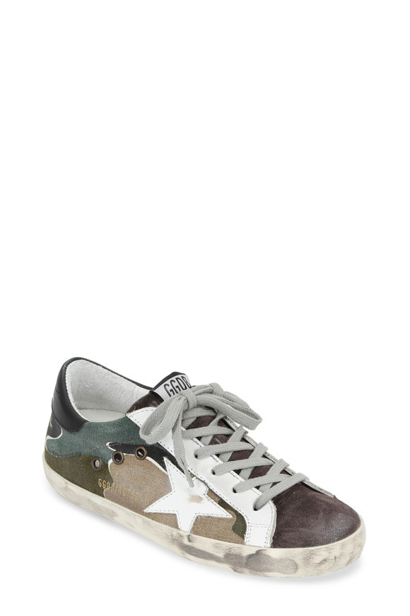 Golden Goose Women's Camo Canvas Low Top Sneaker