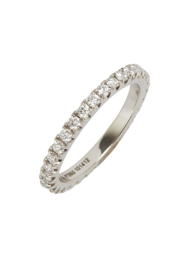 Platinum Diamond Stackable Band