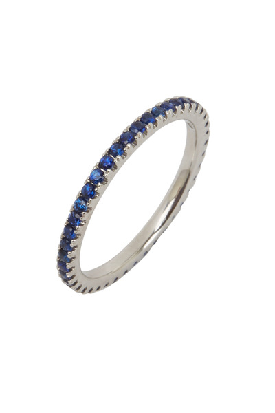 Kwiat - 18K White Gold Blue Sapphire Stackable Band