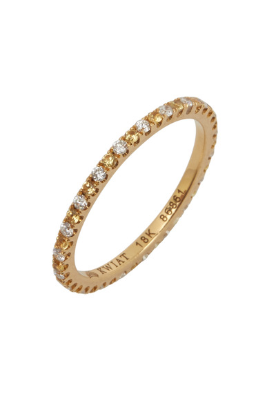 Kwiat - 18K Gold Diamond & Yellow Sapphire Stackable Band