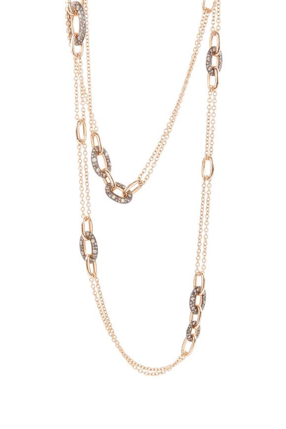 Pomellato 18K Rose Gold & Silver Diamond Tango Necklace