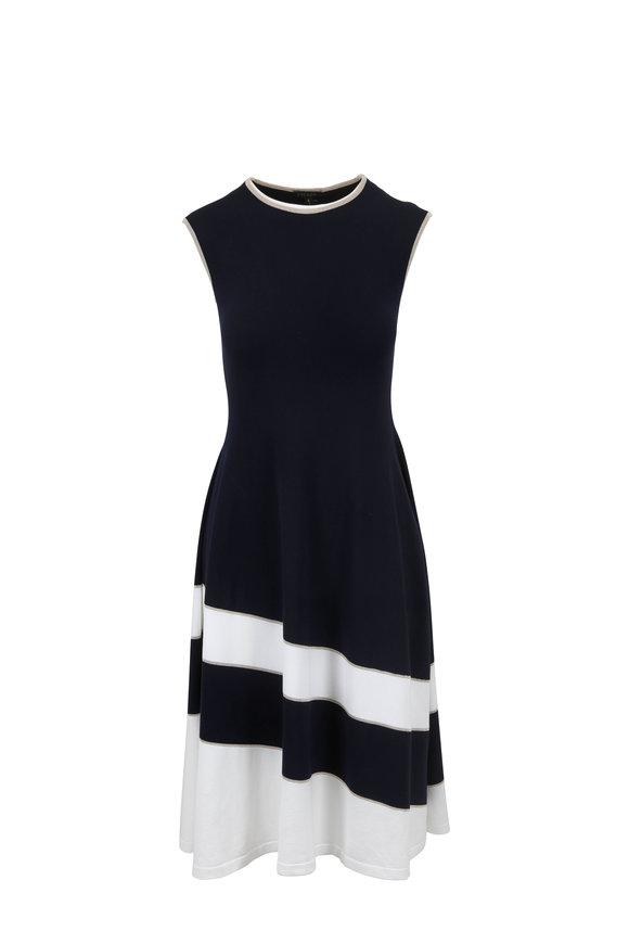 Escada Dariar Navy Knit Dress