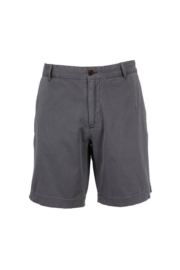 Faherty Brand Slate Stretch Cotton Shorts