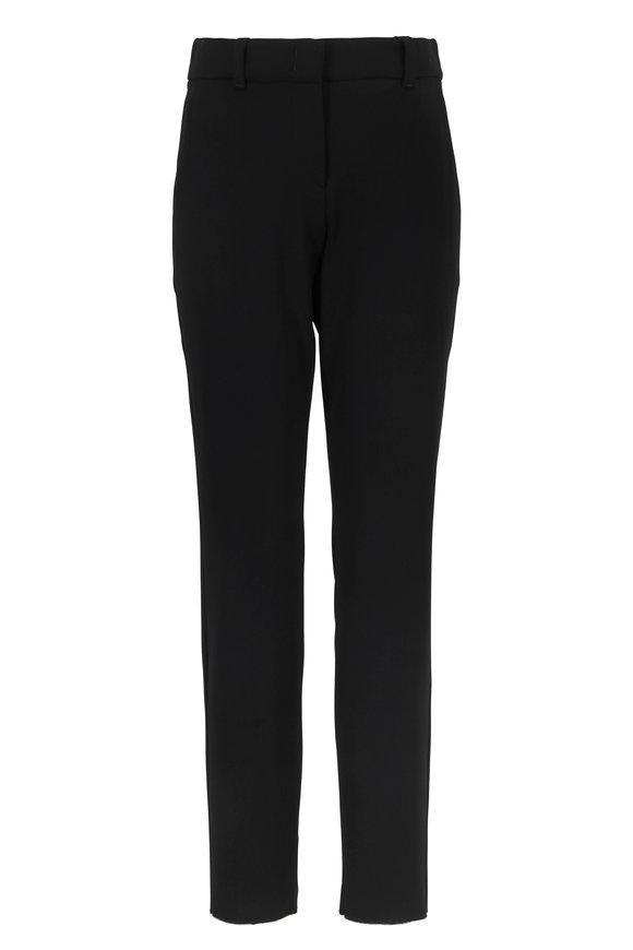 Emporio Armani Black Stretch Crêpe Wool Pant
