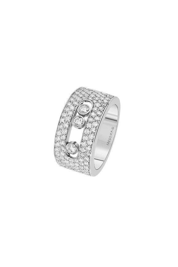 Messika White Gold Mague Move Joallerie Pavè Ring
