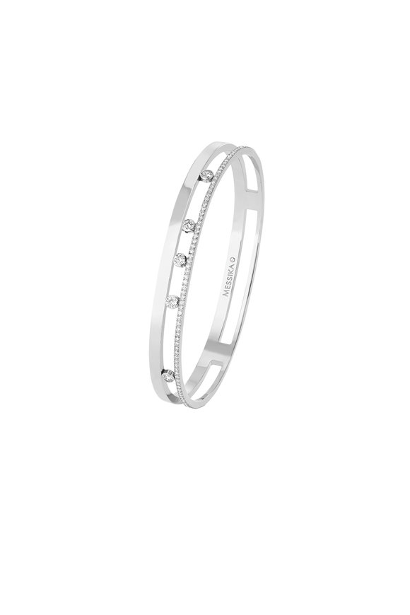 Messika White Gold Move Romane Bangle