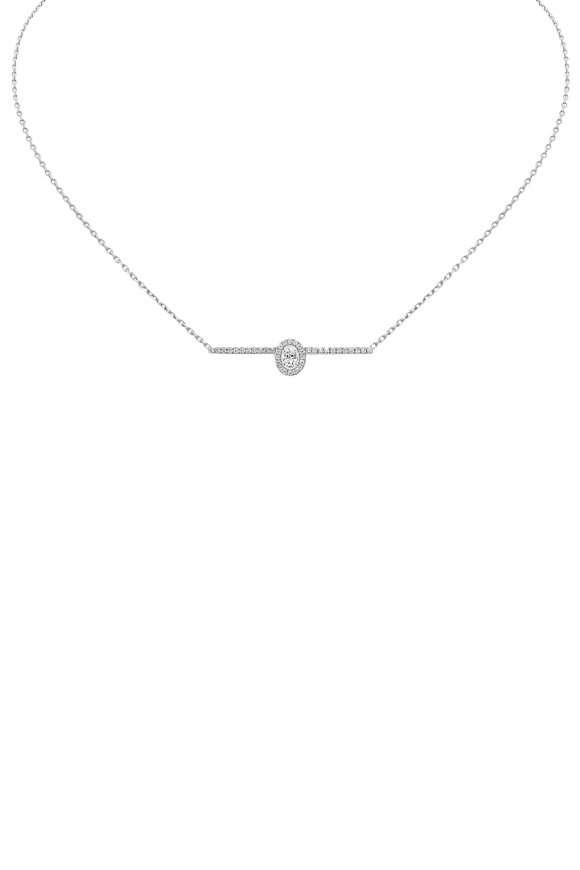 Messika White Gold Glam'Azone Pavè Diamond Necklace