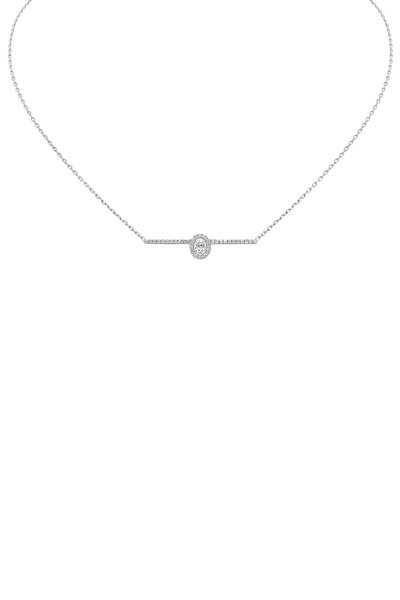 Messika - White Gold Glam'Azone Pavè Diamond Necklace