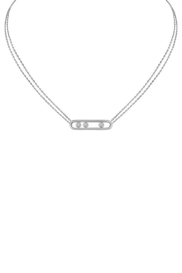 Messika White Gold Move Diamond Necklace