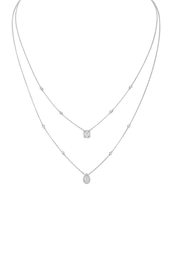 Messika 18K White Gold My Twin Necklace