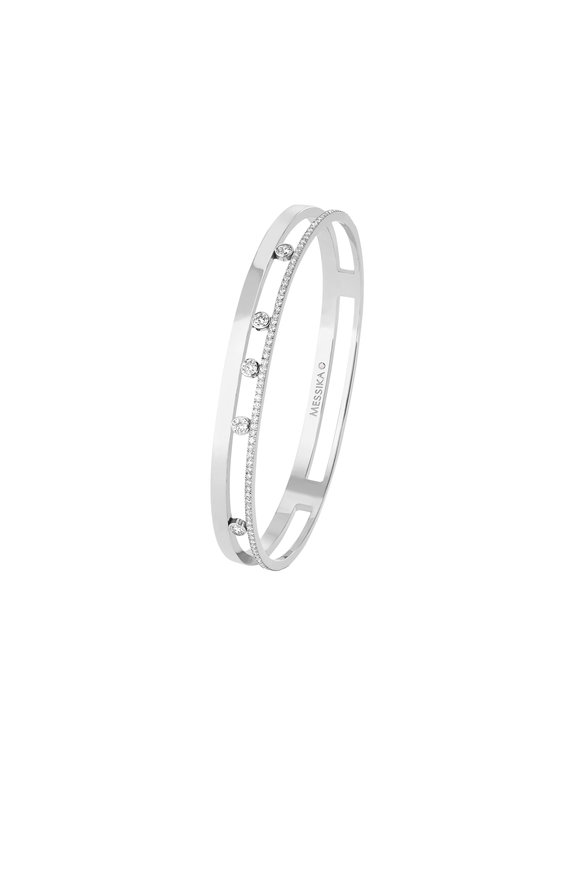 Messika 18K White Gold Moving Bangle
