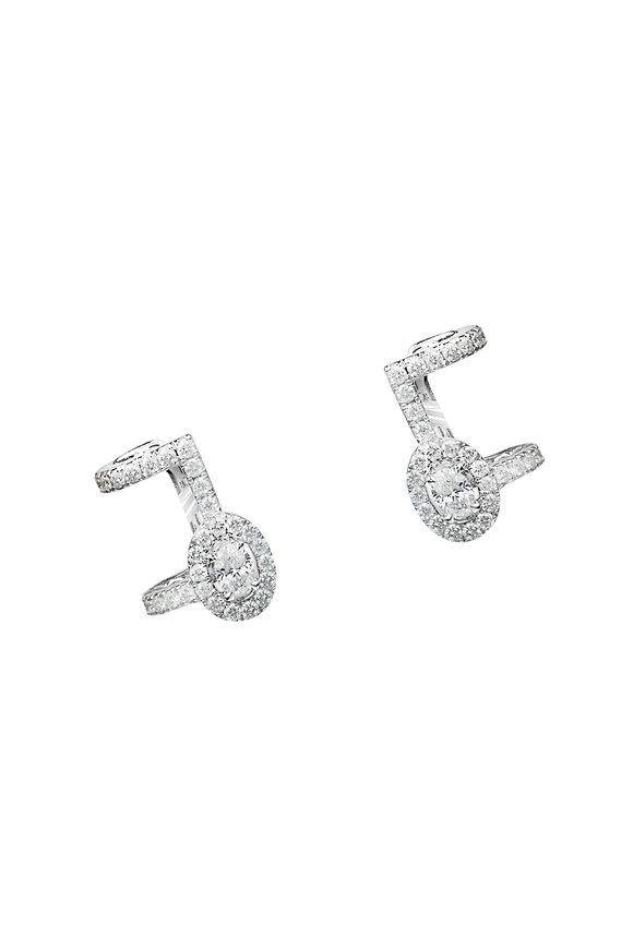 Messika 18K White Gold Glam'Azone Earrings