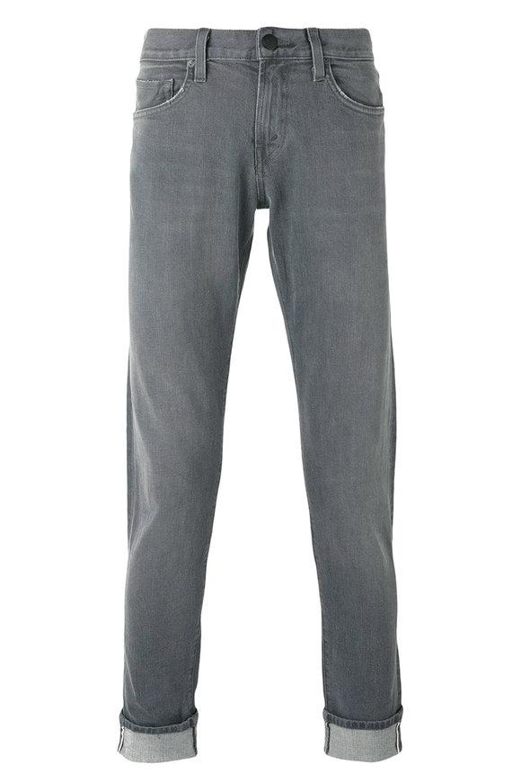 J Brand Tyler Gray Slim Fit Five-Pocket Jean