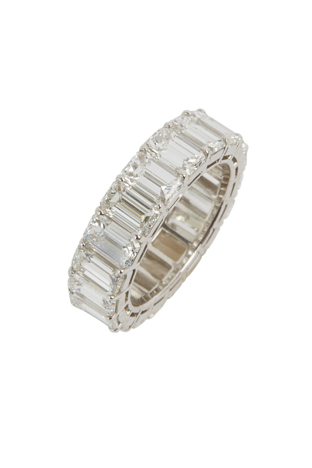 Platinum White Diamond Wedding Band