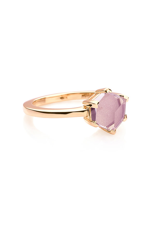 Paolo Costagli Valentina Rose Gold Amethyst Ring