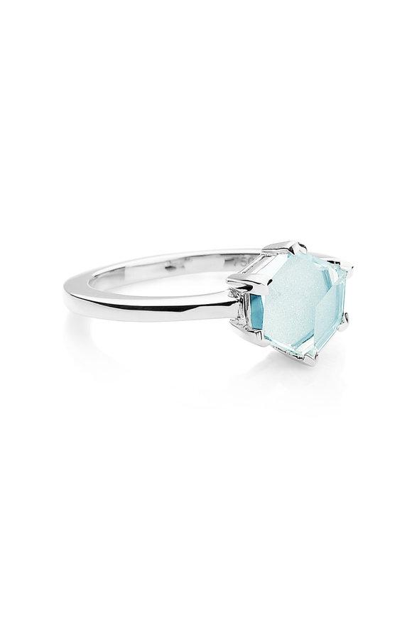 Paolo Costagli Valentina White Gold Blue Topaz Ring