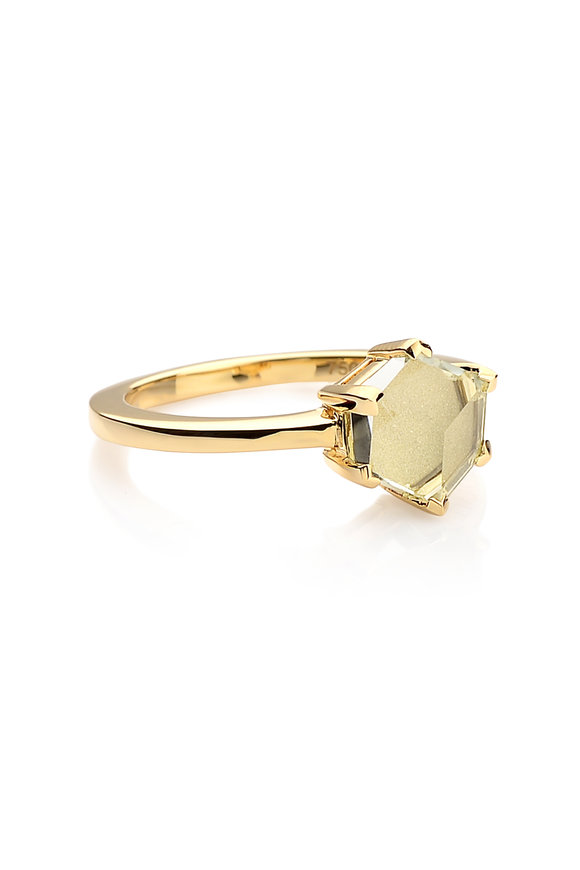Paolo Costagli Valentina Yellow Gold Green Amethyst Ring