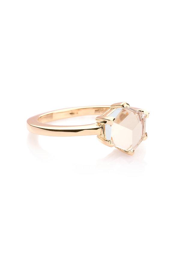 Paolo Costagli Valentina Rose Gold White Topaz Ring