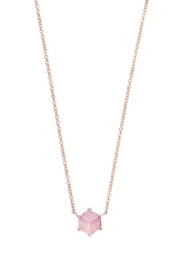 Paolo Costagli Valentina Rose Gold Amethyst Necklace
