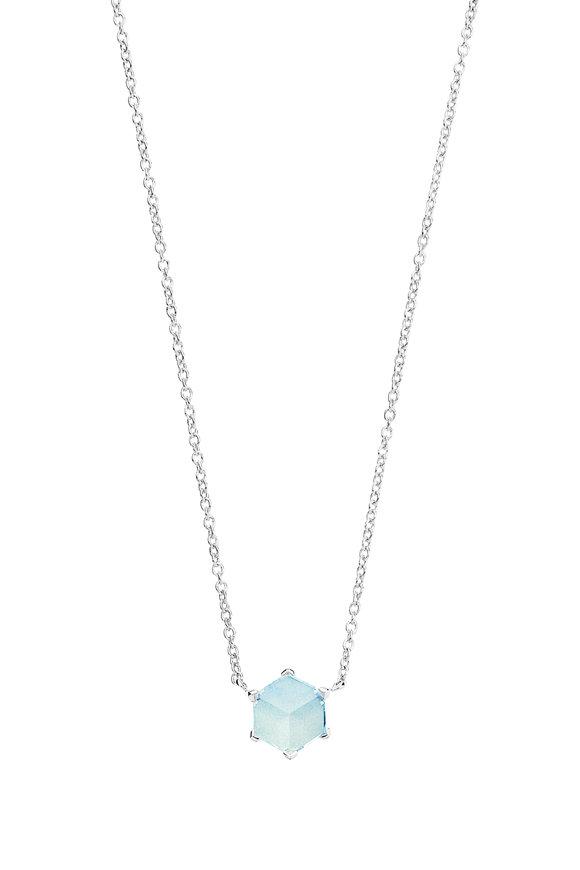 Paolo Costagli Valentina White Gold Blue Topaz Necklace