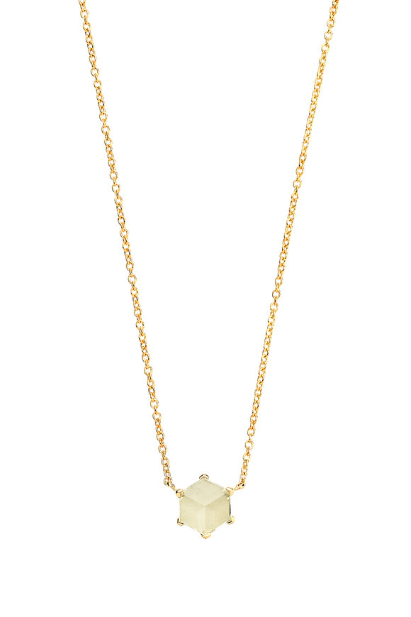 Paolo Costagli Valentina Yellow Gold Green Amethyst Necklace