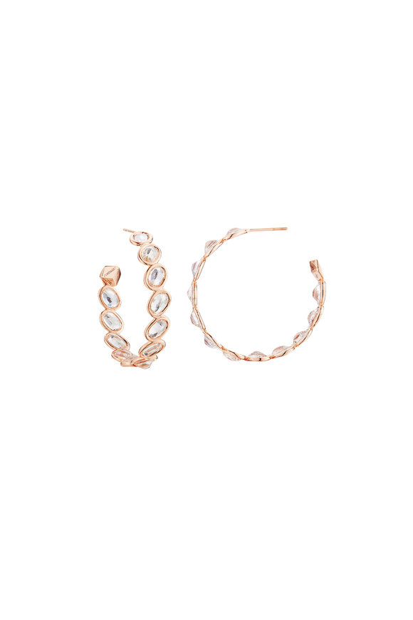 Paolo Costagli Rose Gold Ombré White Sapphire Hoops