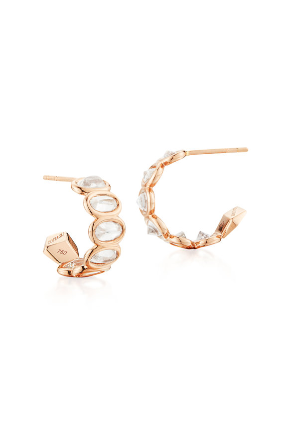 Paolo Costagli Rose Gold & Ombré White Sapphire Hoops