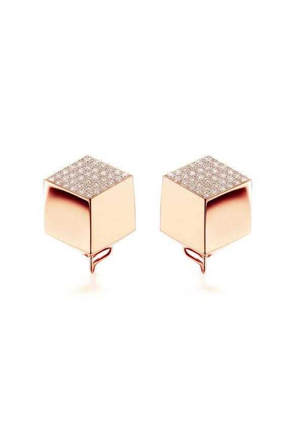 Paolo Costagli 18K Rose Gold Brillante Champagne Diamond Earrings