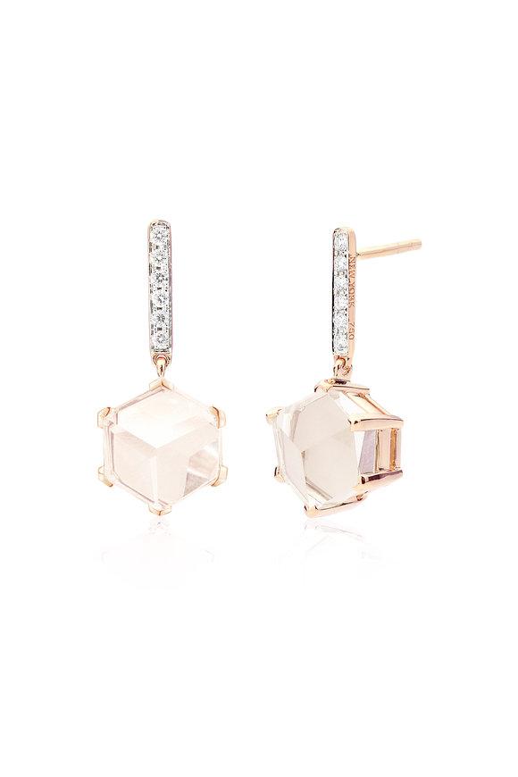 Paolo Costagli Valentina White Topaz & Diamond Drop Earrings