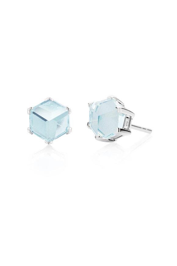 Paolo Costagli Valentina White Gold Brilliante Blue Topaz Studs