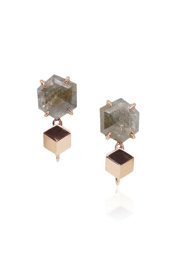 Paolo Costagli Rose Gold & Ice Diamond Topper Earrings