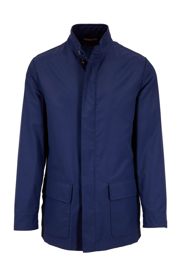 Luciano Barbera Navy Techno Two Pocket Jacket