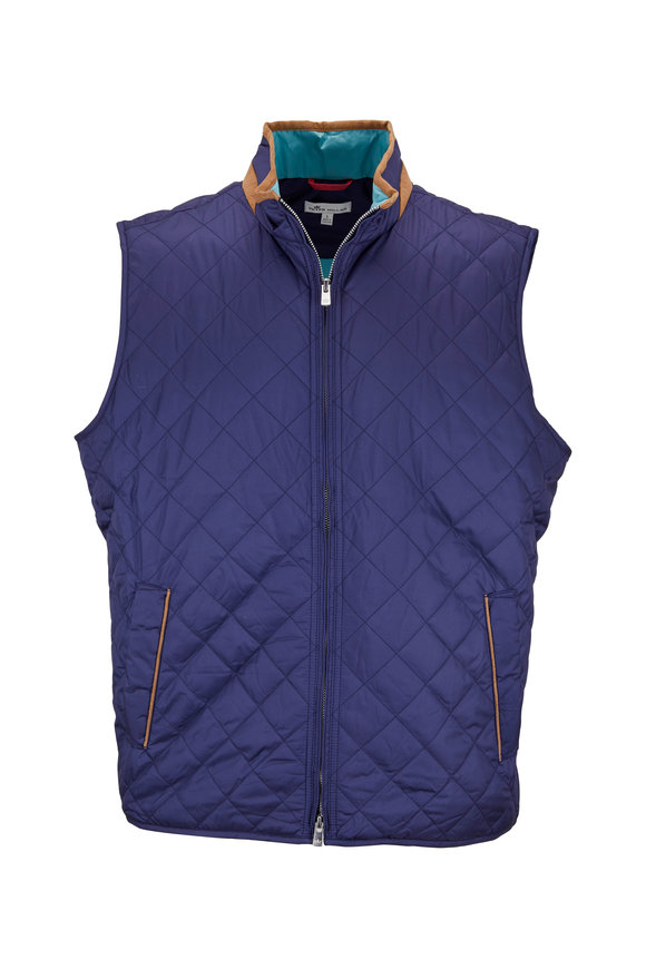 Peter Millar Tailgate Perfect Navy Quilted Vest