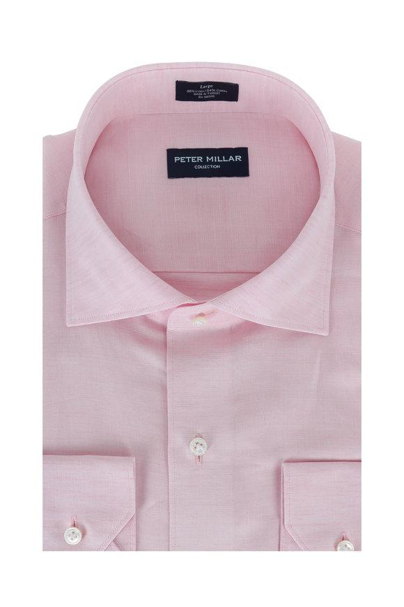 Peter Millar Pink Linen Sport Shirt
