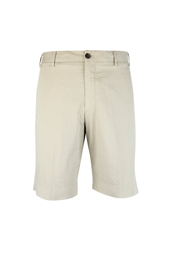 J.W. Brine Khaki Jacquard Shorts