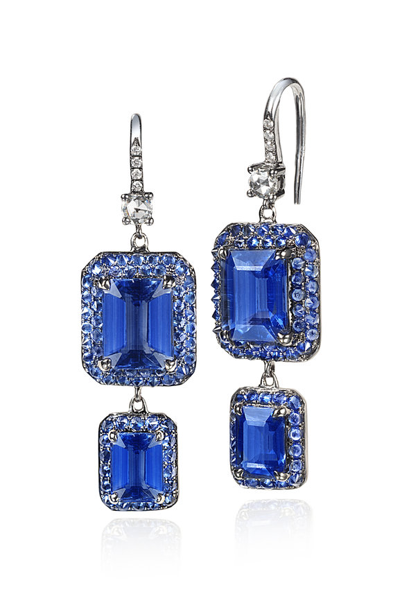 Nam Cho Kyanite & Diamond Spike Earrings