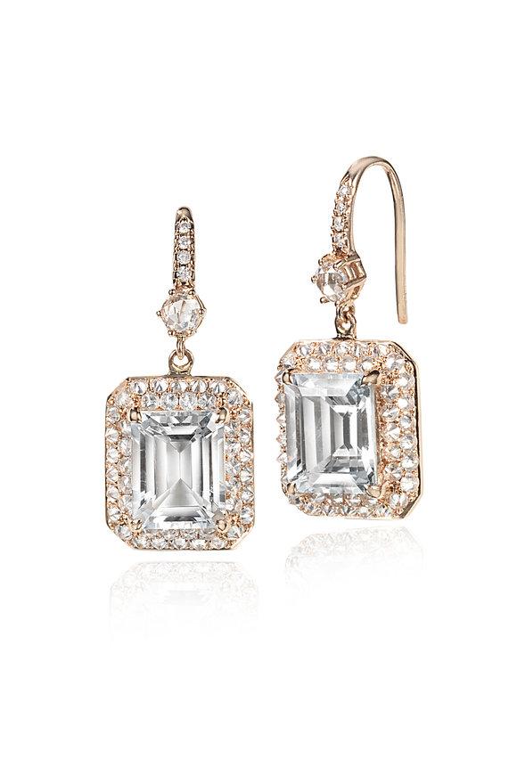 Nam Cho Pink Gold & White Diamond Spike Earrings