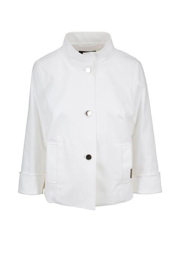 Escada Babaka White Cotton Piqué Jacket