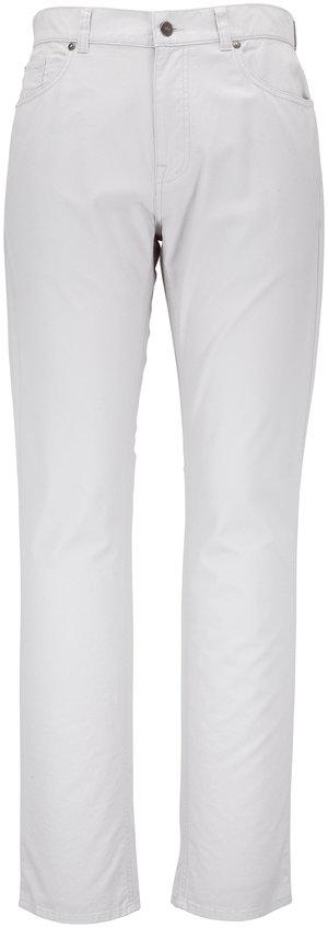 Peter Millar Light Gray Five Pocket Pant