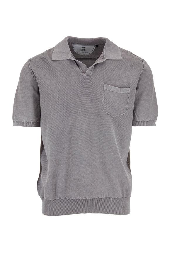 Raffi  Steel Gray Short Sleeve Ribbed Polo