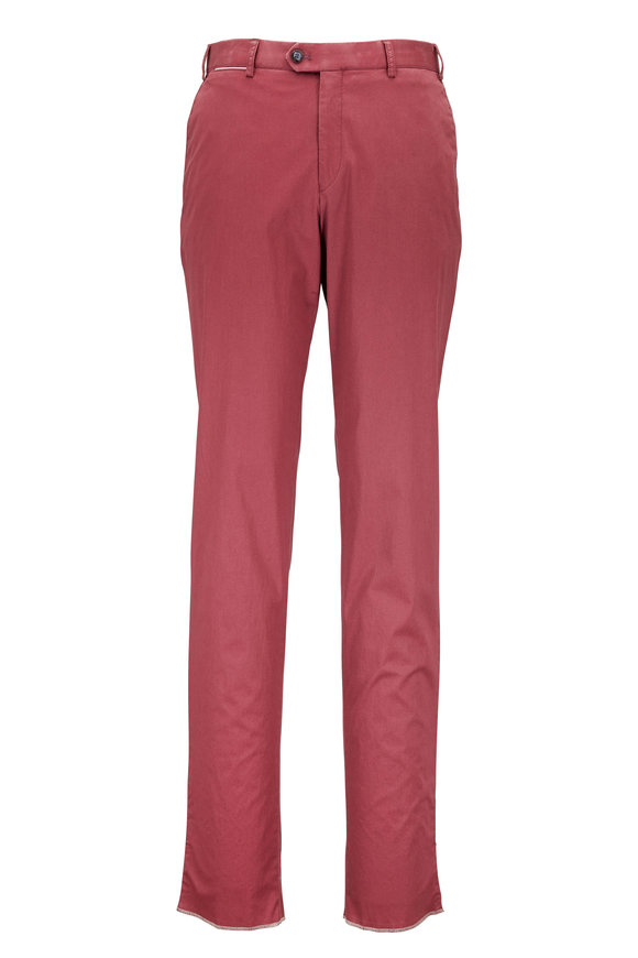 Hiltl  Perfetto Rose Stretch Cotton Flat Front Pant