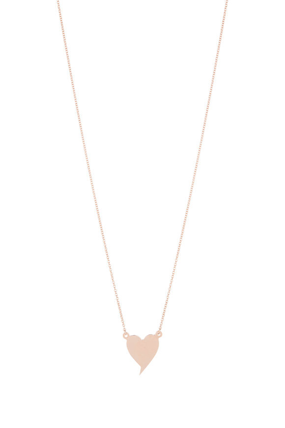 Genevieve Lau Rose Gold Heart Pendant Necklace