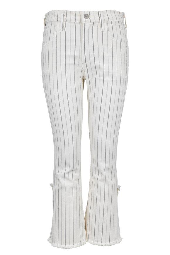 Citizens of Humanity Drew Cream Stripe High Rise Crop Flare Jean